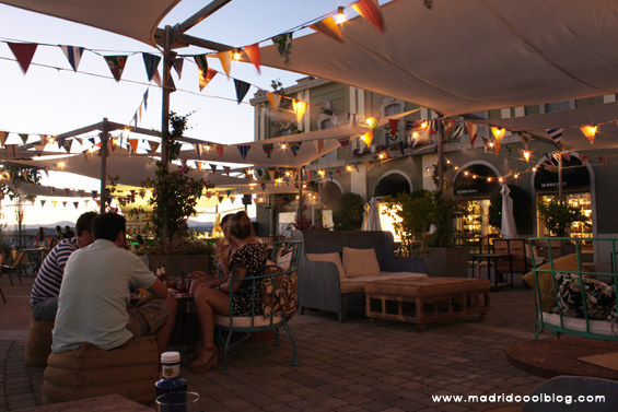MADRID COOL BLOG terraza chic summer las rozas village madrid atardecer cafe del mar sierra de madrid outlet sunset