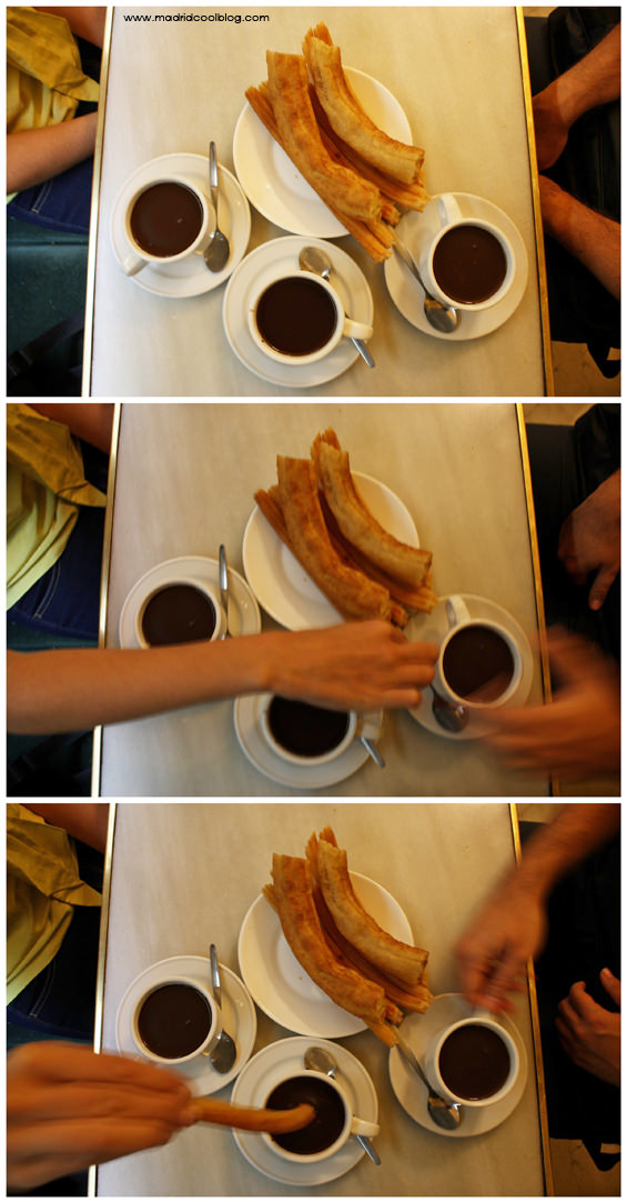 CHOCOLATERÍA SAN GINÉS MADRID COOL BLOG chocolate con churros porras calle arenal calle mayor sol centro típico madrid valor meriendas y desayunos