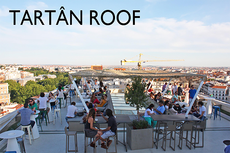 Tartan roof el bar restaurante de la azotea del cba for Azoteas madrid