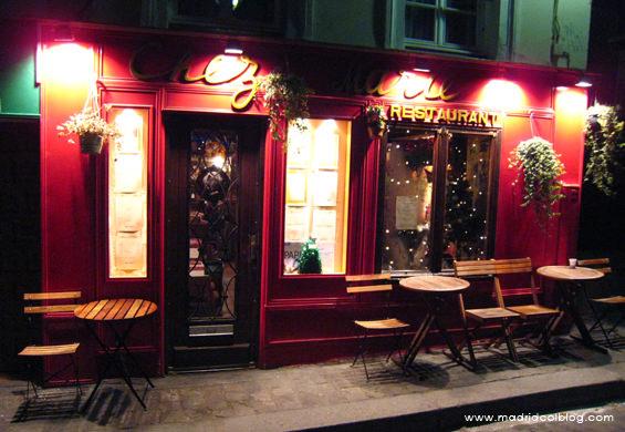 Restaurante Chez Marie en el barrio de Montmartre en París. Foto de www.madridcoolblog.com