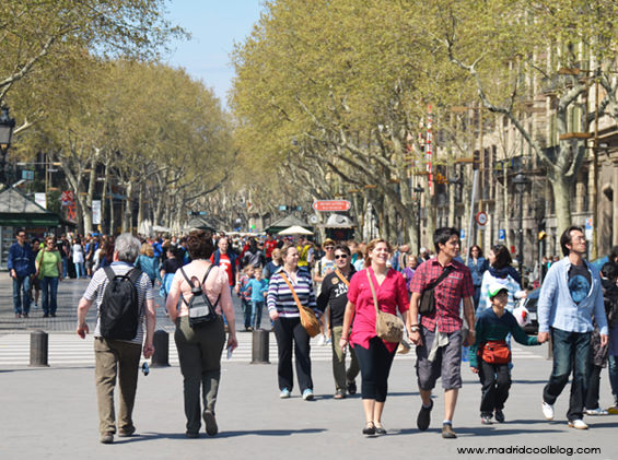La Rambla de Barcelona. Foto de www.madridcoolblog.com