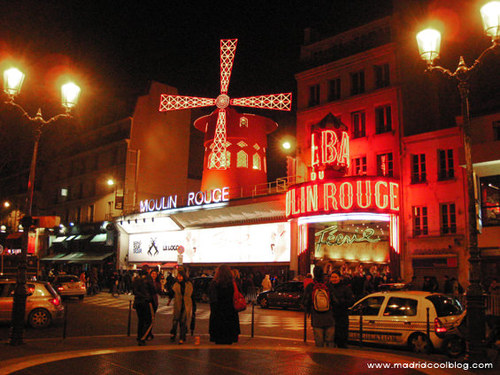 Moulin Rouge, París. Foto de www.madridcoolblog.com