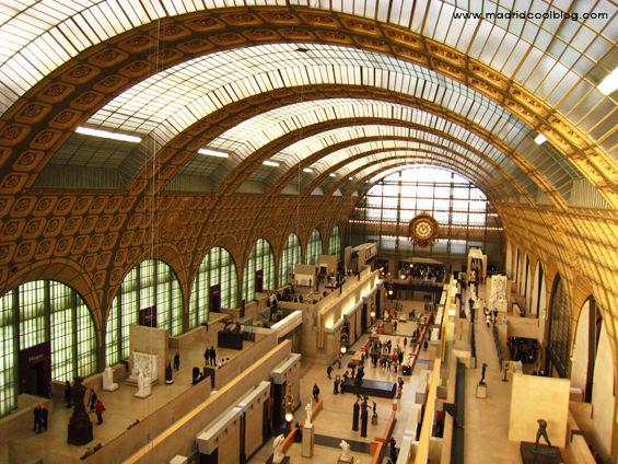 Interior del Museo D´Orsay en París. Foto de www.madridcoolblog.com