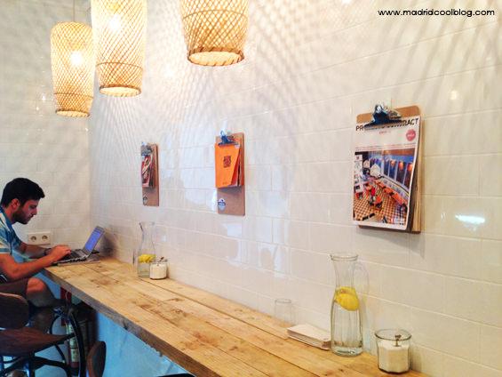 Interior de Mistura. Foto de www.madridcoolblog.com Madrid, helados, chueca, fuencarral, gran vía, helados artesanales, madrid in love, decoración
