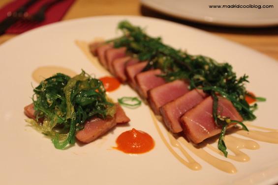 Tataky de atún en Mr. Frank. Foto de www.madridcoolblog.com