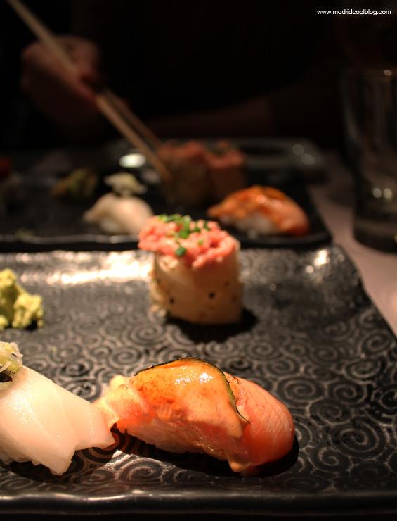 Tabla de sushi en el restaurante 99 Sushi Bar. Foto de www.madridcoolblog.com