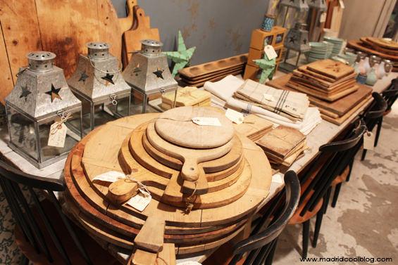 Menaje vintage en Federica & Co. Foto de www.madridcoolblog.com