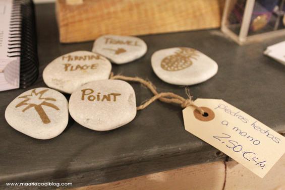Piedras pintadas en Federica & Co. Foto de www.madridcoolblog.com