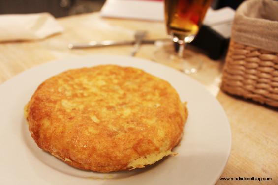 Tortilla de patatas TAM (tortilla al momento) de Drink Fino. Foto de www.madridcoolblog.com