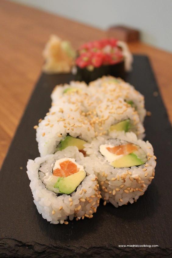 Sushi y rollos californianos de Sumo. Foto de www.madridcoolblog.com