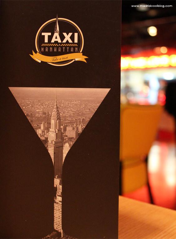 Carta de cócteles de Taxi a Manhattan. Foto de www.madridcoolblog.com