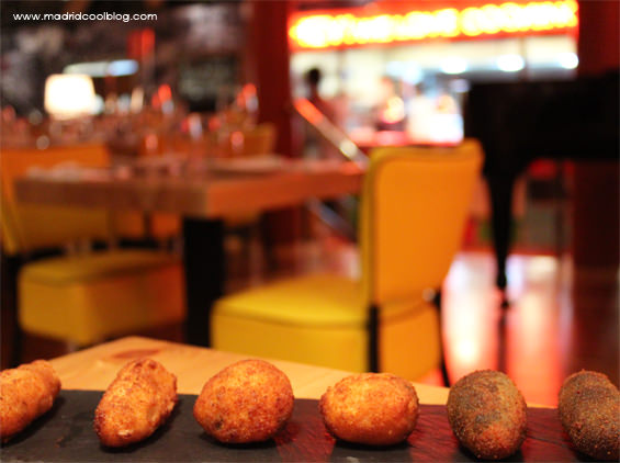 Croquetas variadas en Taxi a Manhattan. Foto de www.madridcoolblog.com
