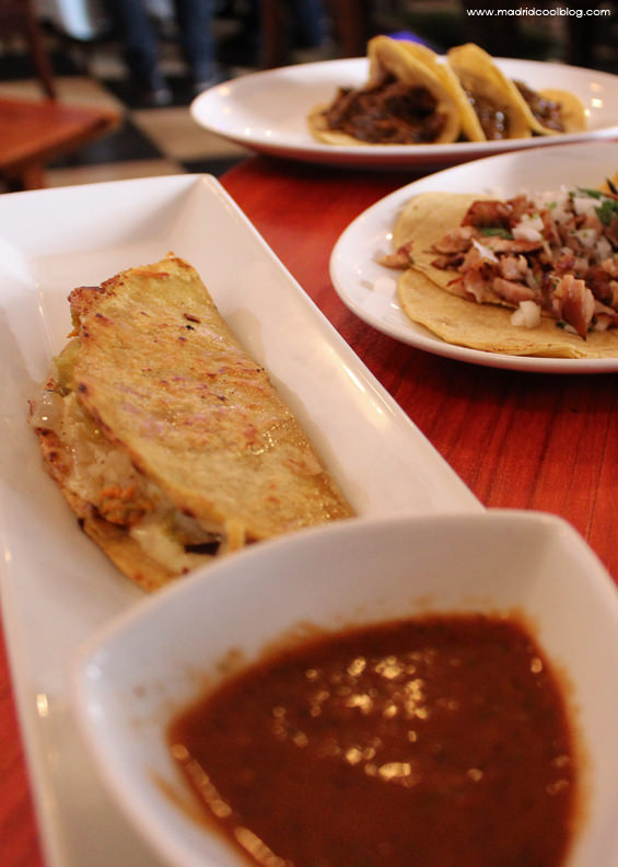 madrid cool blog, maria bonita taco bar, cocina mexicana, restaurante mexicano, flor de calabaza, mole