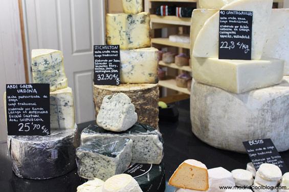 madrid cool blog, quesería, conde duque, queso, cheese