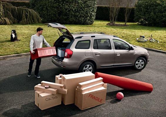 Muuucha capacidad de almacenaje en el Dacia Logan MCV.