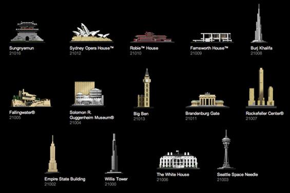 Colección LEGO Architecture.