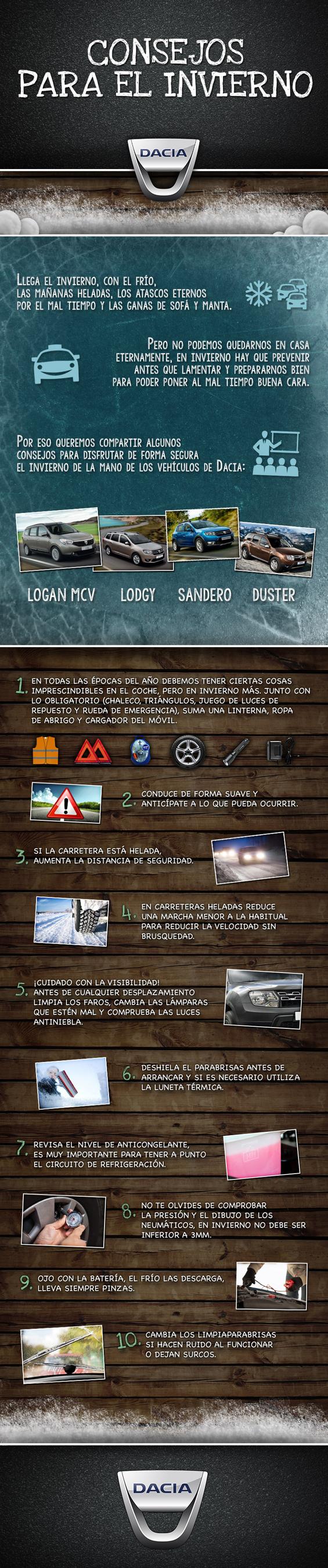 Consejos de Dacia para desplazarnos en coche sin sobresaltos.