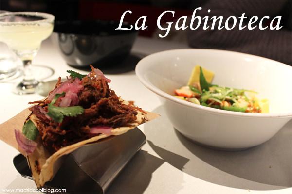 La Gabinoteca. Cocina de autor rica y divertida en Chamberí.