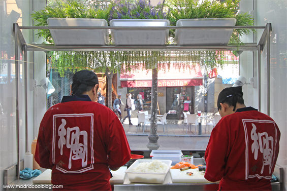 Nigiri. Fast food japonés en Malasaña.