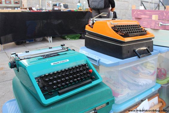MADRID COOL BLOG el rastro de la sierrra COLLADO VILLALBA máquinas de escribir vintage