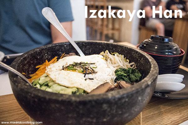 Izakaya Han. Restaurante japonés y coreano en Chueca.