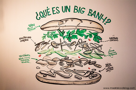 The Big Banh. Bocadillos vietnamitas en Malasaña.