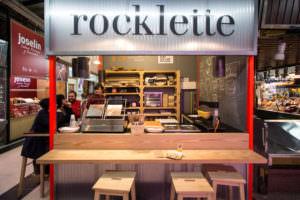 Rocklette. Raclettes en Madrid en el Mercado de Vallehermoso.