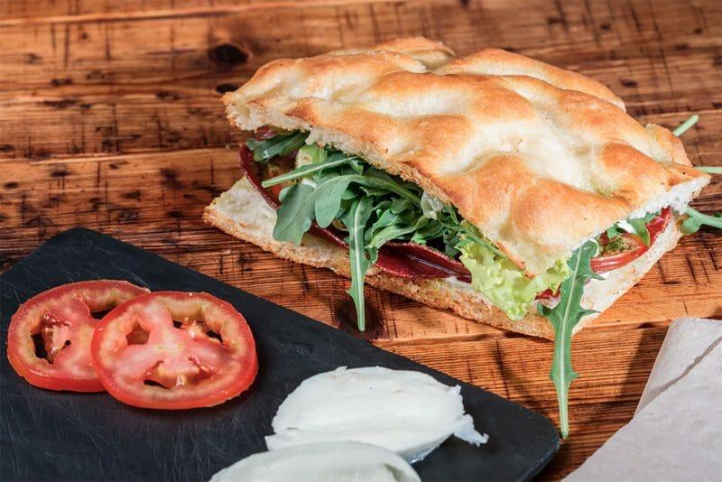 Sándwich Giuseppito de Bresaola. Foto de Magasand.
