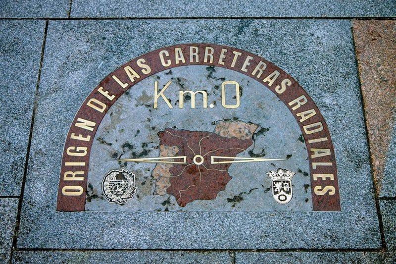 KM 0 de la Puerta del Sol de Madrid.