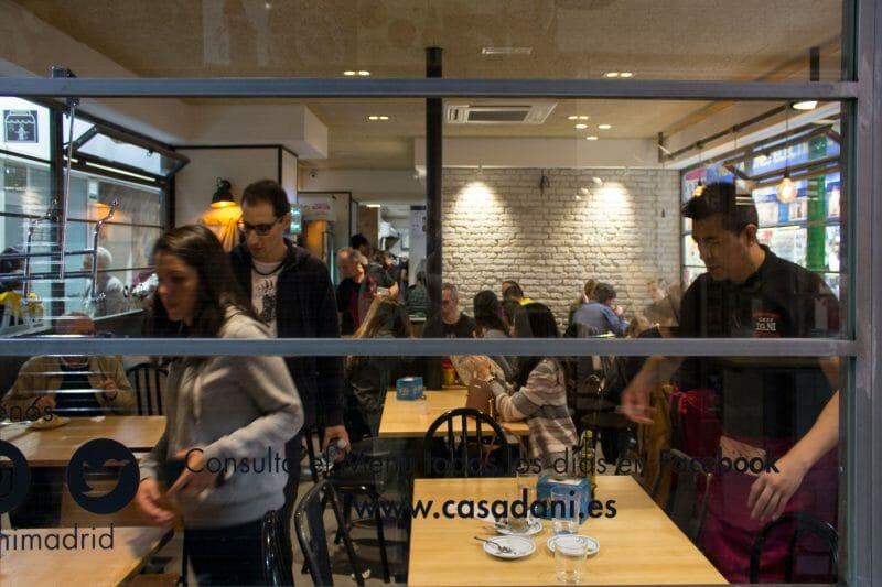 Comedor de Casa Dani. Foto de Madrid Cool Blog.