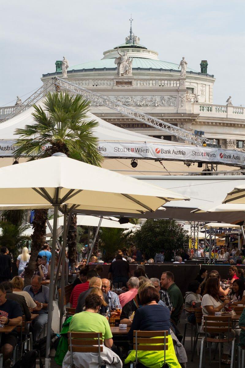 Puestos de comida en Viena. Foto de Madrid Cool Blog.