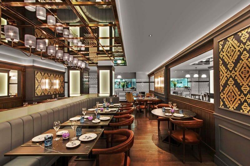 Restaurante del Gran Hotel Inglés. Foto del Gran Hotel Inglés.