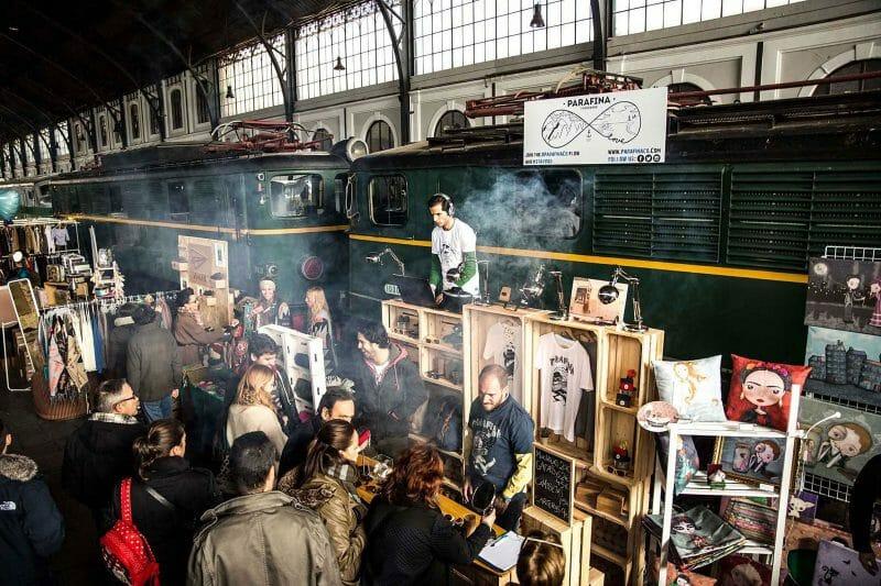 Mercado de Motores en el Museo del Ferrocarril.