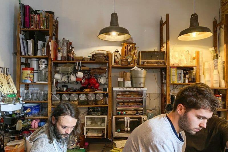 Zona de trabajo de Cafelito. Foto de Madrid Cool Blog.