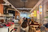 Interior de Flax & Kale. Foto de Madrid Cool Blog.